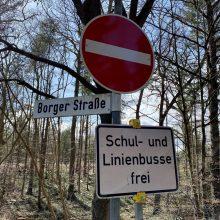 Sperrung K129 Vogelparkstrasse